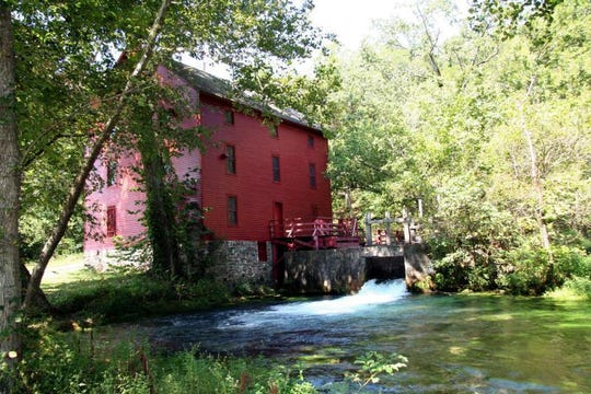 Alley Mill near Eminence and the Jacks Fork River is one of the most-photographed historic sites on Ozark National Scenic Riverways.