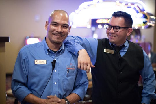 Janssen Eiselstein and Juan Ulloa work at Eureka Casino Resort, which Fortune named one of the best medium-size companies in the U.S.