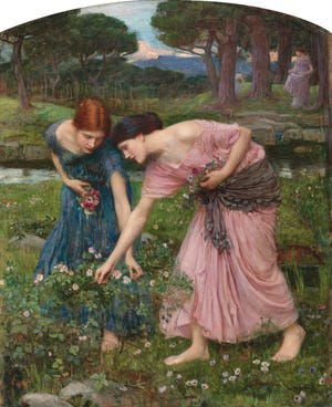 """The advice in the painting """"Gather Ye Rosebuds While Ye May"""" is good advice."""