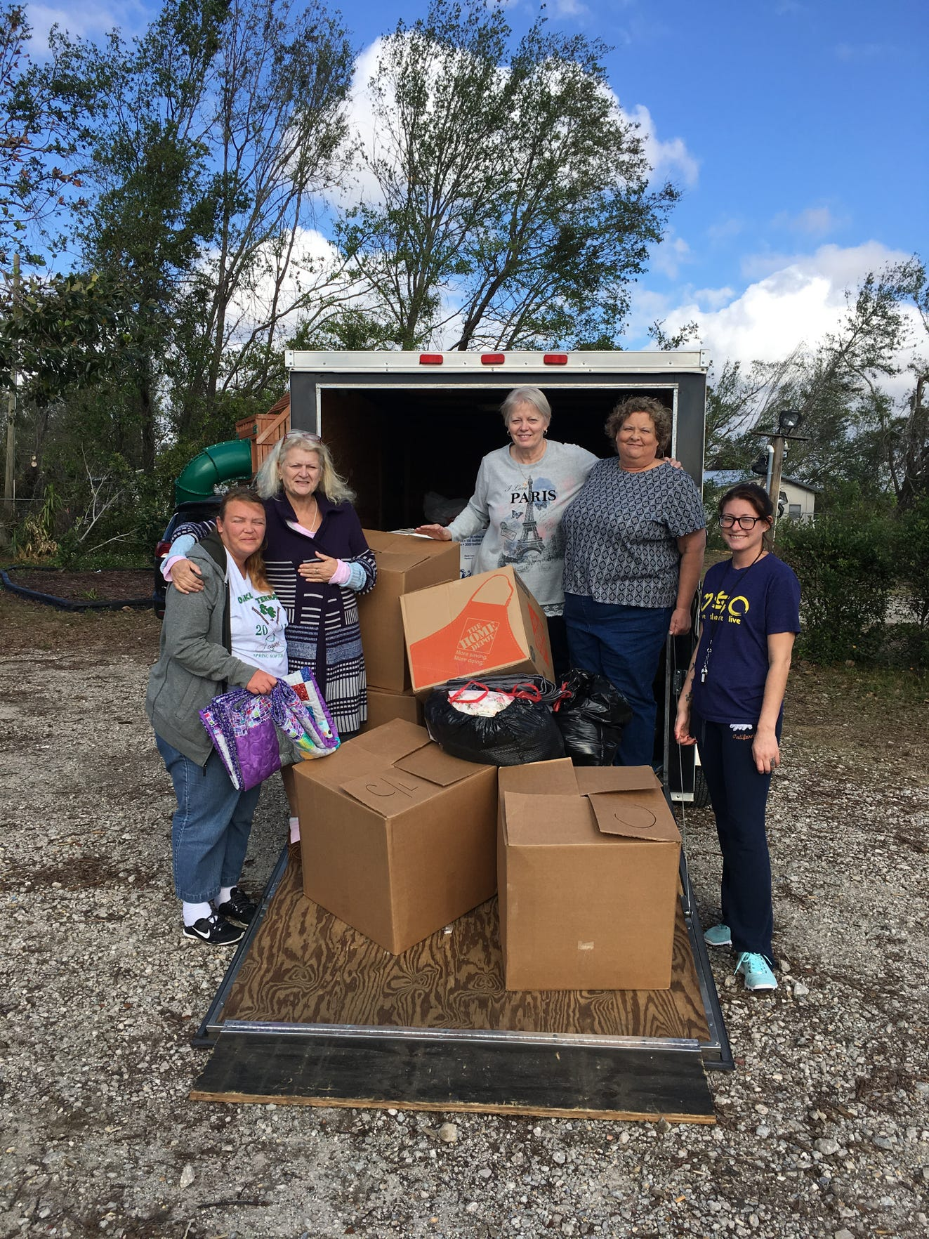 Quilt Blessings for the Panhandle packs up a load of quilts to take to families hit hard by Hurricane Michael.