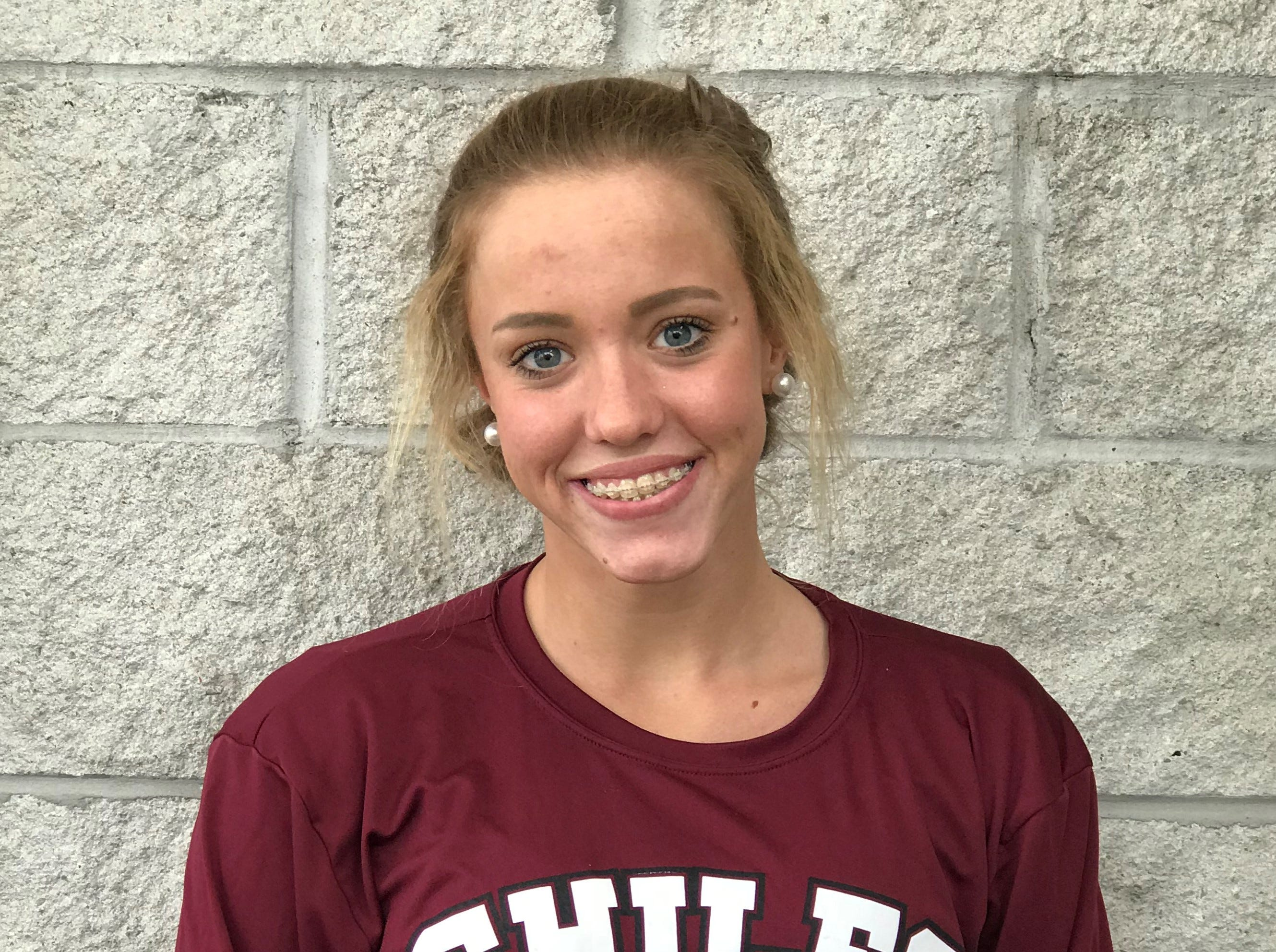 Chiles freshman Stella Grace Watts was named to the 2018 All-Big Bend girls swimming and diving first team.