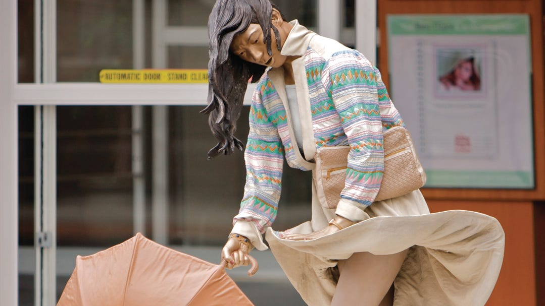 """Stormy Weather"" is one of Seward Johnson's..."