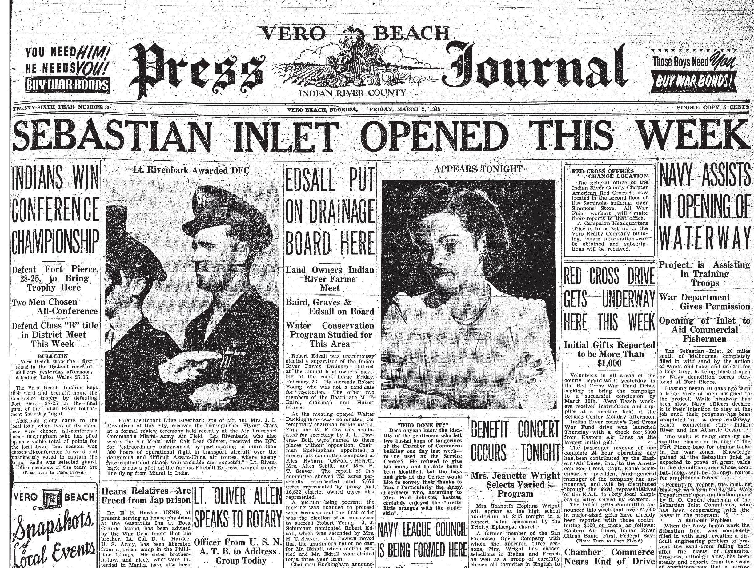 March 2, 1945Front page