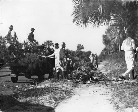 June, 1939 - Beautification Day was an annual event in Vero Beach. Cleaning Beachland Boulevard was the target in 1939.