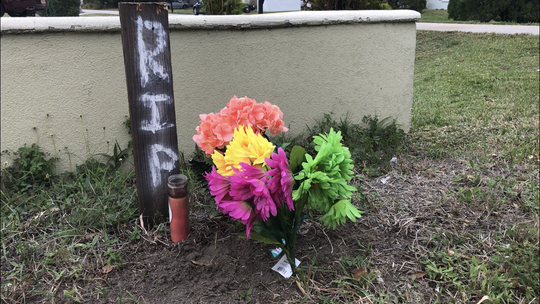 A memorial was placed at the site where Clarence Curtis Lee, 43, was killed when a pickup turned in front of his motorcycle Dec. 26, 2018 on 45th Street in Gifford.