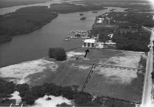 1960s - The Vero Beach City Marina can be seen just north of what became Bob Summers Field and the Vero Beach Dog Park, as well as MacWilliam Park and boat ramp.