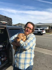 Scrappy reunited with his owner on Wedneday.