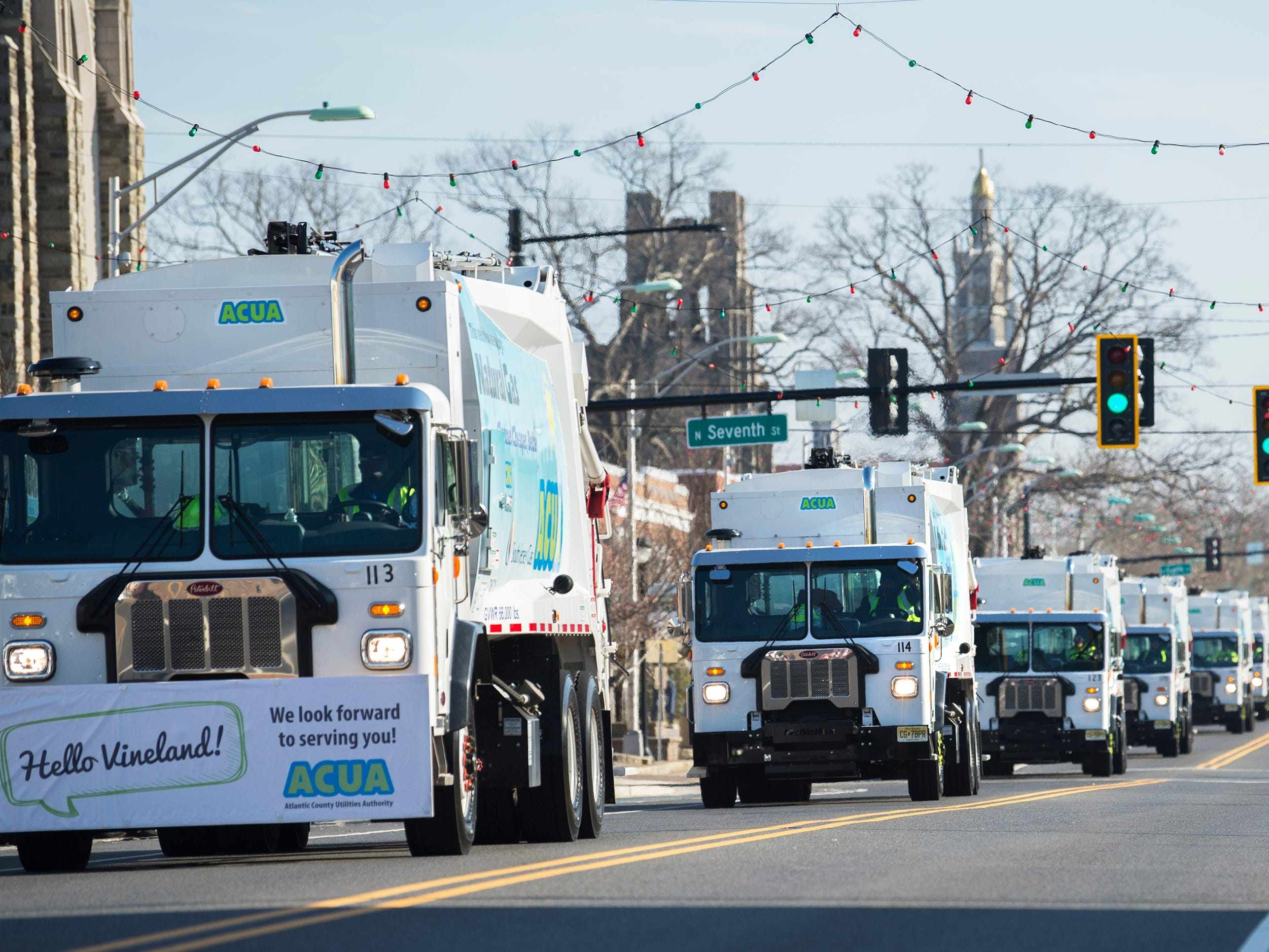 Vineland parades new fleet of trash collection vehicles