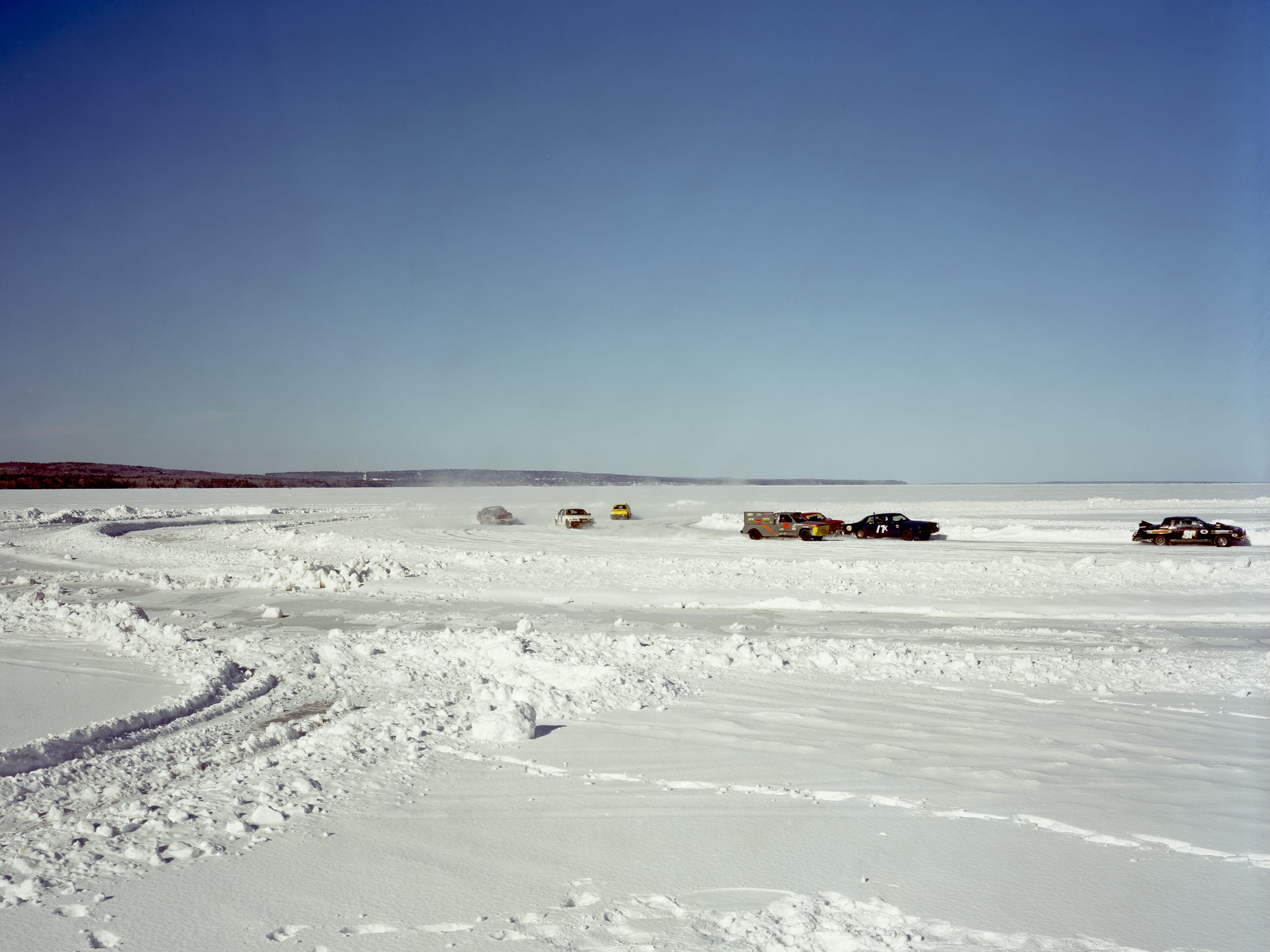 Ice Racing On Chequamegon Bay, Ashland. March 2013.