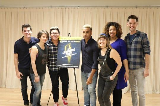 'The Lightning Thief' cast: (l) Chris McCarrell, Sarah Beth Pfeifer, Jorrel Javier, James Hayden Rodriguez, Kristin Stokes, Jalynn Steele and Ryan Knowles