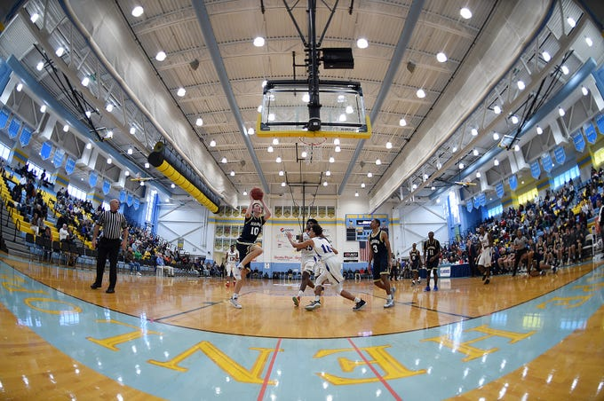 Slam Dunk to the Beach kicked off on Thursday December 27th with the opening game of Caesar Rodney playing Salesianum at the tournament held at Cape Henlopen High School.