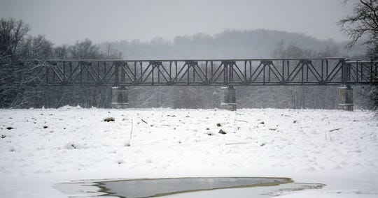 A large ice jam on the Muskingum River was monitored for four days in January.