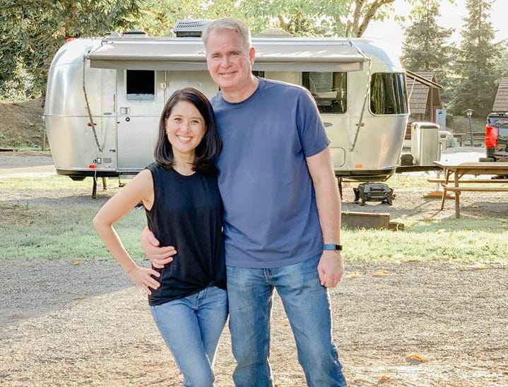 Kathy Chen (left) owns a 2019 Airstream Sport.