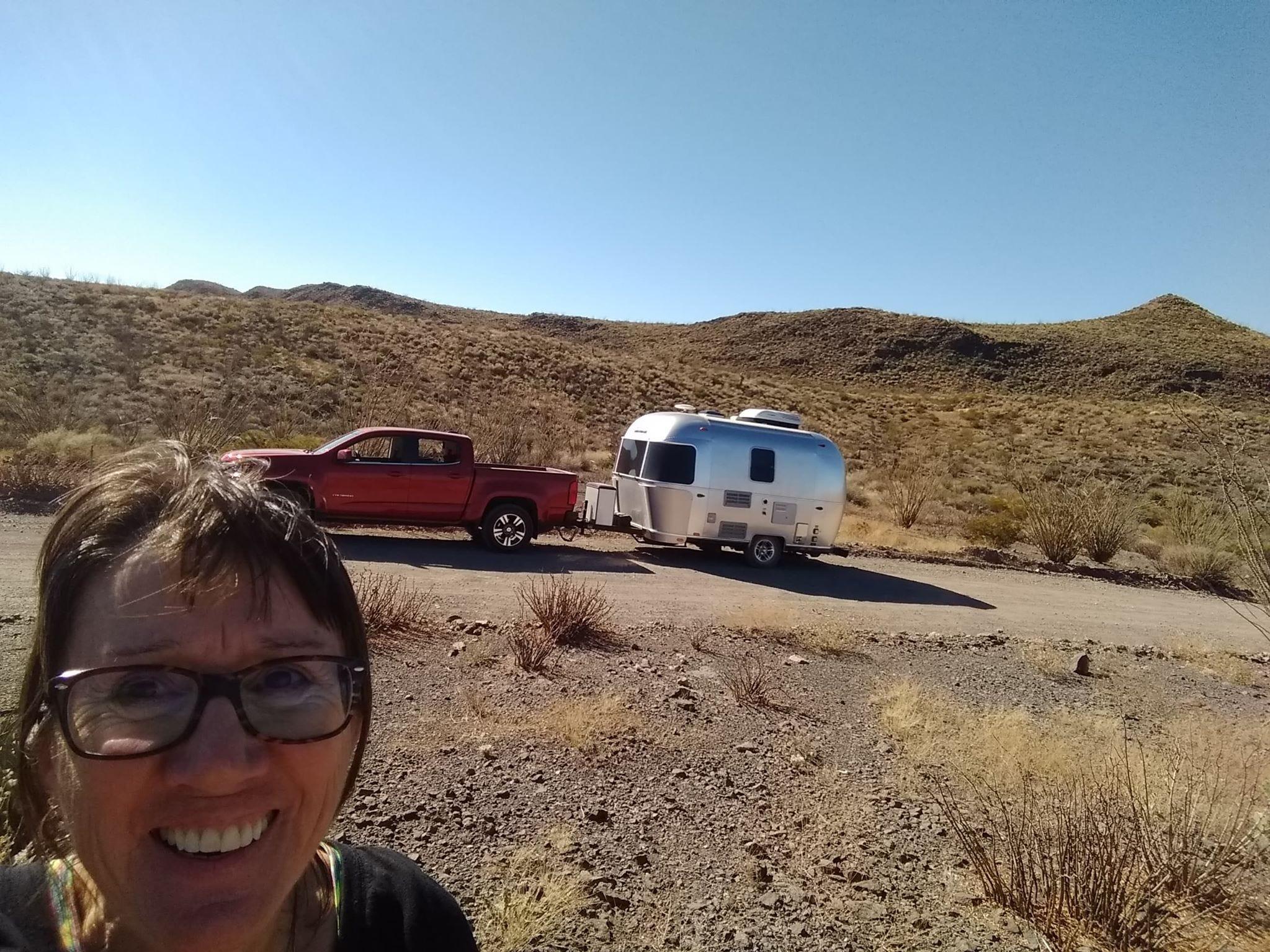 Lydia Long of Buffalo Gap, TX travels in an Airstream 16 Bambi.