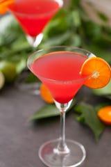 Jalapeno cranberry martini.