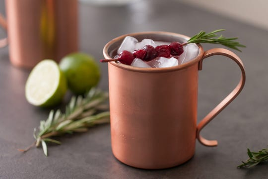 Cranberry Wine Moscow Mule.