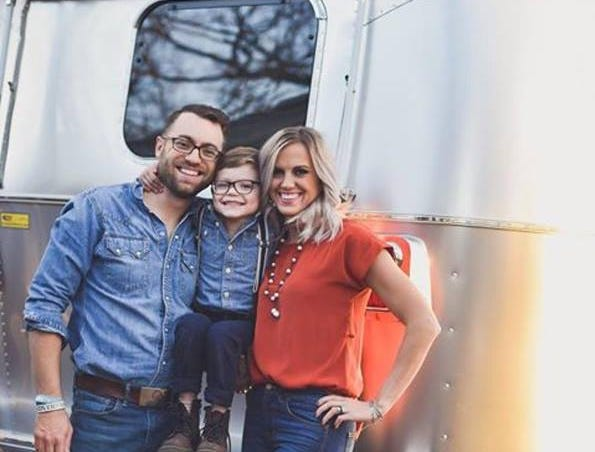 Krysta Huckabee (right) of Lampasas, TX said her family has lived in their 2017 Flying Cloud Airstream for two years.