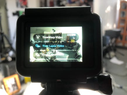 The Time-Lapse menu on GoPro cameras