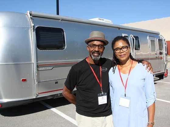 2001 Airstream Classic owned by Wendy (Right) and Errol Lewis of Ontario, Canada.