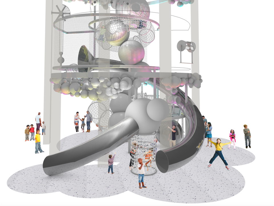 Opening this summer in Washington, the National Children's Museum will include the Dream Machine, a massive indoor climbing structure, shown here in a rendering.
