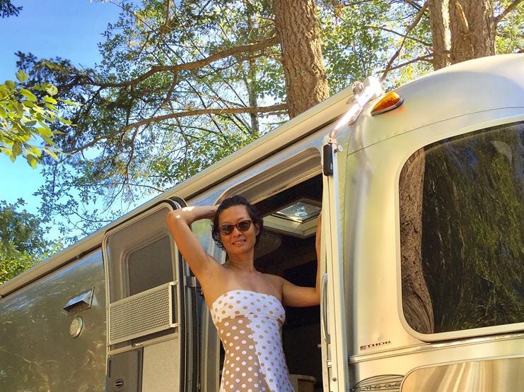 """Jihong Tang is a self-proclaimed """"nomad"""" who travels in a 2013 Airstream Flying Cloud."""