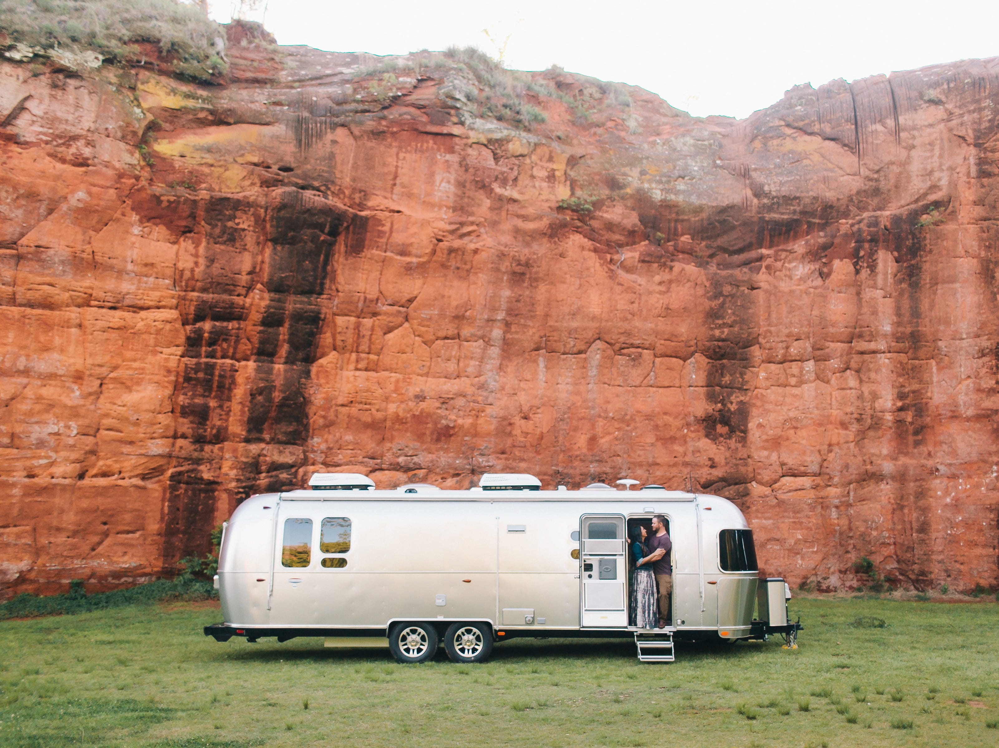 Oklahoma couple Tanner and Nelly Bean live in their Airstream full-time.