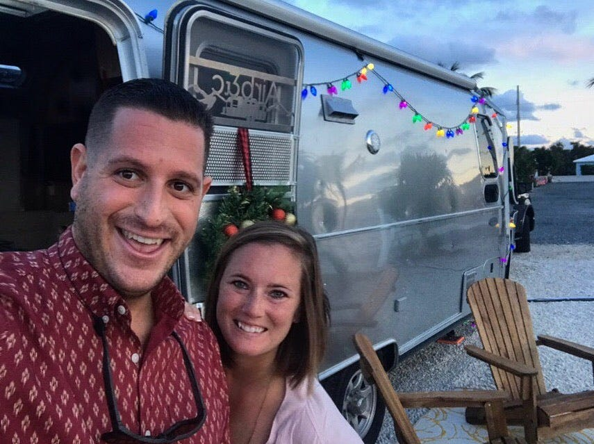 This 2019 Airstream RV Flying Cloud is owned by Brad and Chelsea Muken. Photo taken outside Orlando, FL.