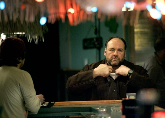 "James Gandolfini is shown inside the Tiki Stadium on Beachway in Keansburg on Jan. 24, 2008 during filming of ""Down the Shore,"" filmed under the title ""Kiddie Ride."""