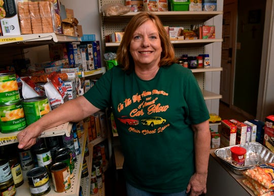 Diane Walker at On the Way Home, a ministry food pantry serving the Jim Ned, Novice and Oplin areas.