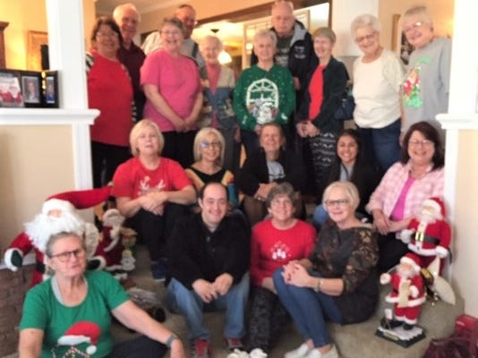 Stamford Health Club held its Silver Fitness Christmas Party on Dec. 19 at the home of Jimmy and Dorothy Doan. Standing, from left: Dina Beltran, Fred Selby, Janice Allen, Chubb Richards, Sharon Selby, Geraldine Wedeking, Jesse James, Charlotte James, Odene Dudensing and Darlene Simpson. Seated back row: Kara Cobb, Sandra Villanueva, Phil Swenson, Health Club manager Diana Sanchez and Monica Prewit. Seated front row: Camille Combs, Bobby Villanueva, Janet Miller and Dorothy Doan.