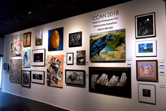A sampling of the art selected for the Center for Contemporary Arts' National Juried Competition.
