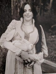 KT Arthur holding her infant son Ted in 1979. KT died June 19, 2018, of liver failure from chronic alcohol abuse. She was 59. Ted wants her death to serve as a wake-up call to other families of loved ones battling addiction.