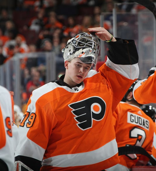 flyers audition continues for carter hart facing first road game