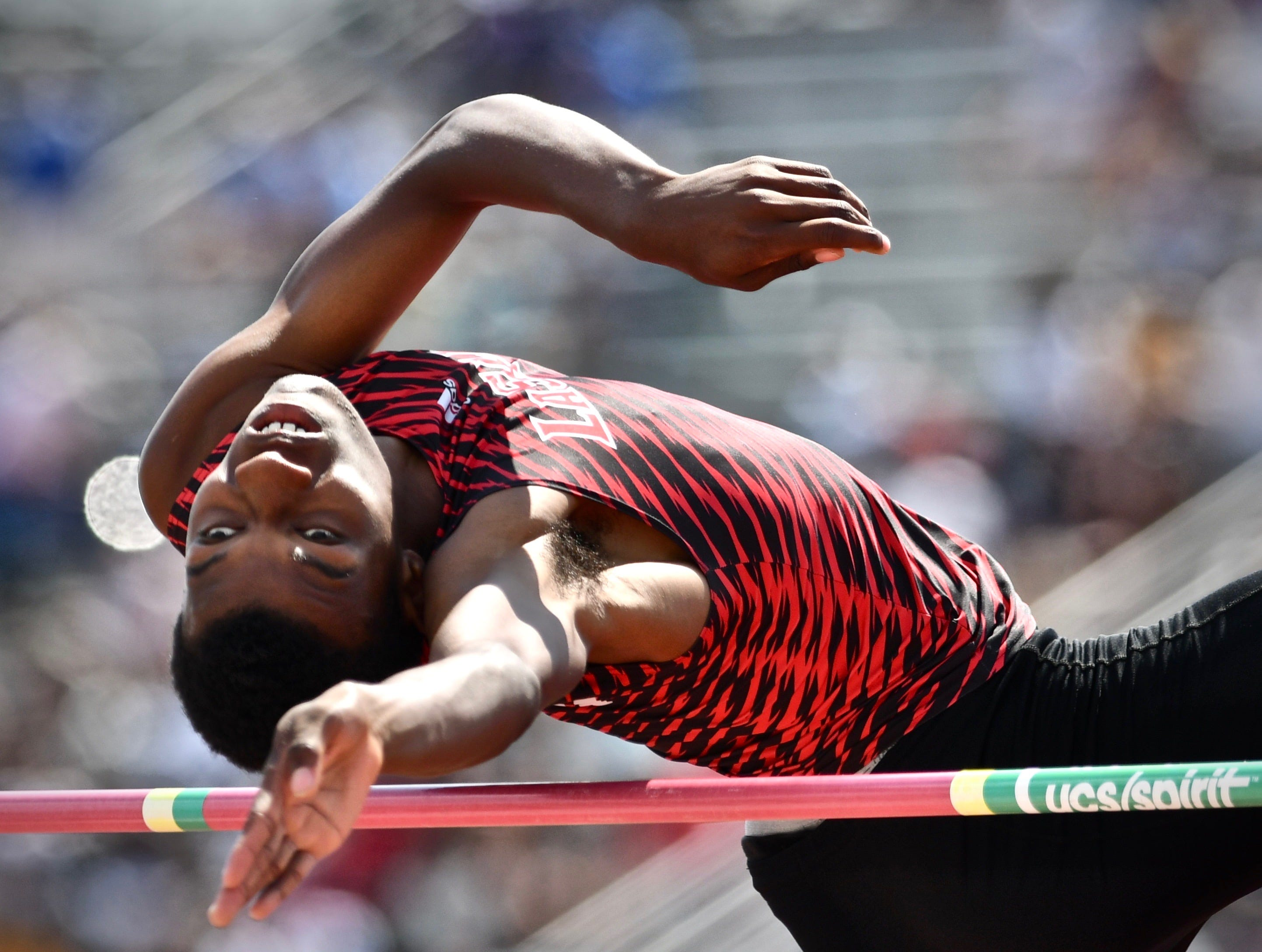 La Salle's Cameron Willis finished sixth in the boys high jump Saturday, June 2nd at the State Track and Field Championships at Jesse Owens Memorial Stadium
