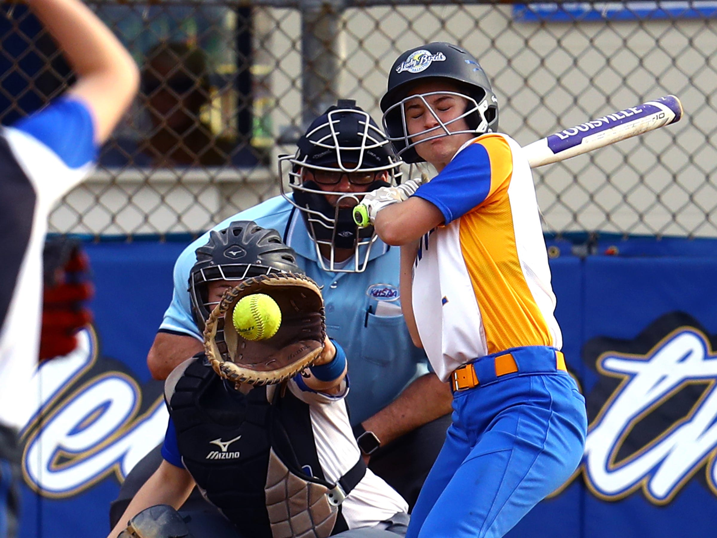 Newport Central Catholic batter Bailey Gray bats against Highlands. Highlands defeated Newport Central Catholic 9-0.