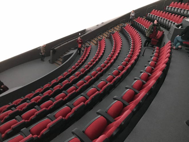 Here's a look at the new theater seats at the reopened Omnimax theater at the Cincinnati Museum Center