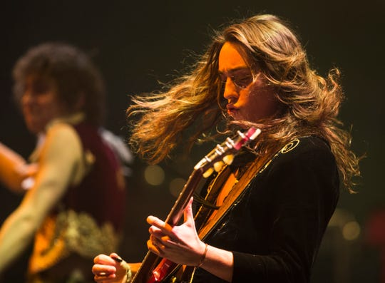 Greta Van Fleet's guitarist Jake Kiszka performs at the Fox Theatre in downtown Detroit, Thursday, Dec. 27, 2018.