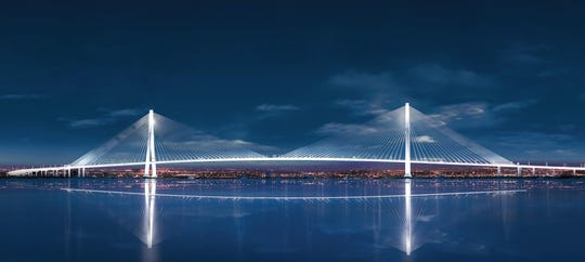 Artist rendering of the Gordie Howe International Bridge.