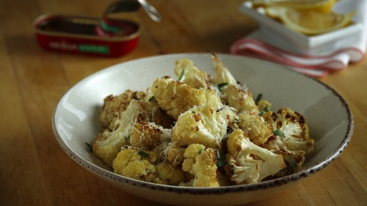 Feature Winter Whites At The Table With Cauliflower Dressed With Garlic Anchovies