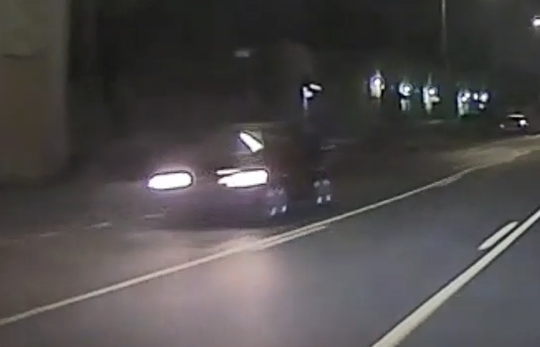 The car involved was filmed traveling west on Lyndon and is believed to have front-end damage.