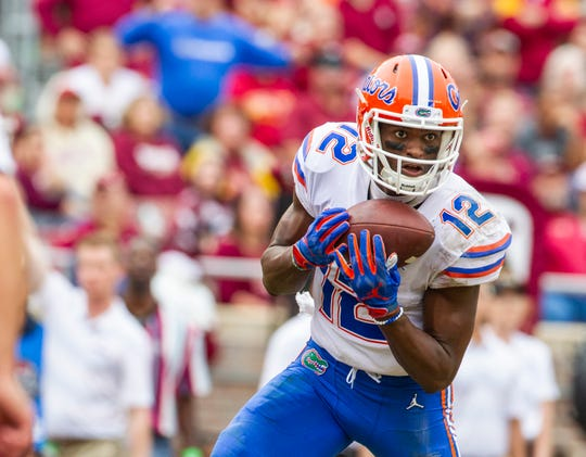 Van Jefferson leads Florida in receptions (31), receiving yards (439) and touchdown receptions (six) this season.