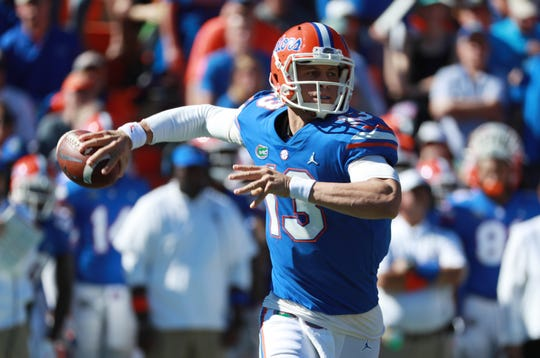 Quarterback Feleipe Franks completed 67.6 percent of his passes (50-for-74) for 689 yards, seven touchdowns and no interceptions in Florida's last three regular-season games.