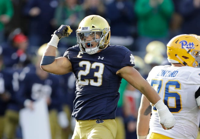 Drue Tranquill (23) is well aware it has been 30 years since Notre Dame last won a national title.