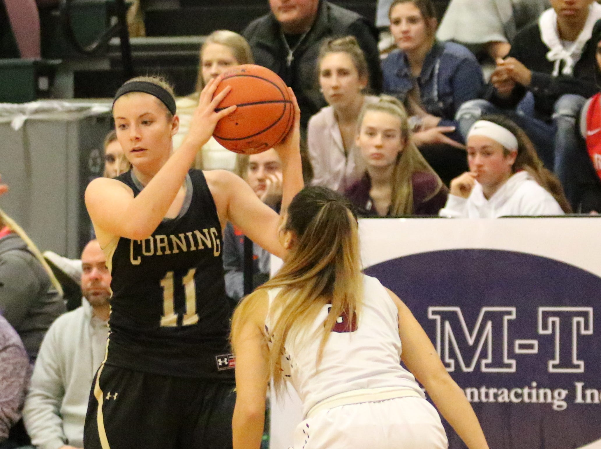 Corning takes on Elmira in a girls quarterfinal at the Josh Palmer Fund Elmira Holiday Inn Classic on Dec. 27, 2018 at Elmira High School.