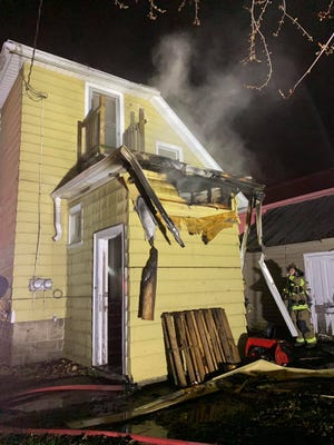 A fire broke out overnight at 165 West Scott Street in Fond du Lac.