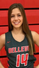 Bellevue's Casey Santoro established a single-game program record with 10 3-pointers.
