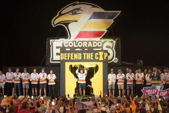 The Colorado Eagles won the Kelly Cup last season for the second year in a row and the team still has the trophy despite leaving the league after last season.