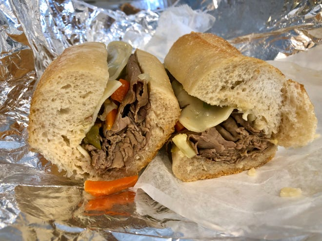 The Italian Beef Hero from Mario's Italian Meat Market is good ... but it's no Godfather.