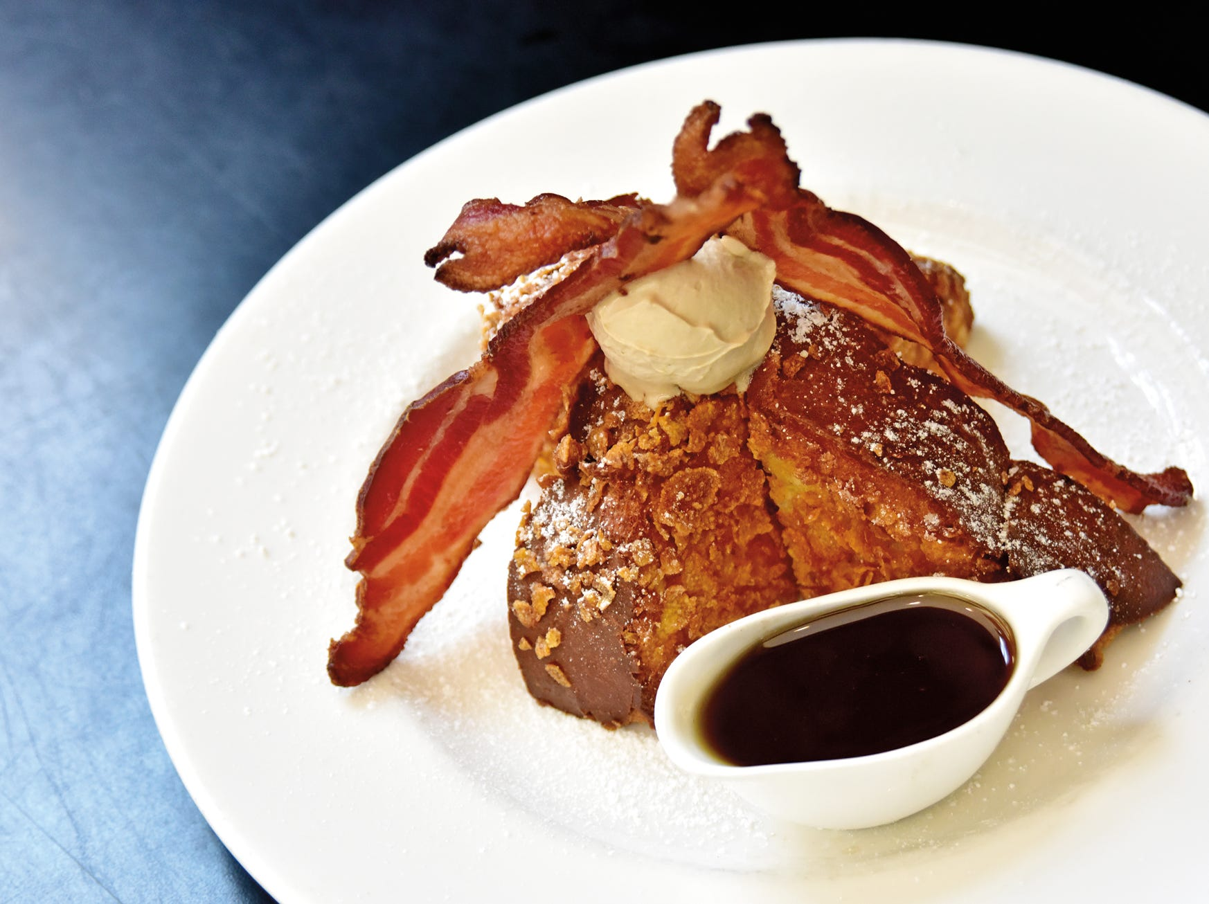 French toast from the brunch menu at Hall's Chophouse in Greenville.