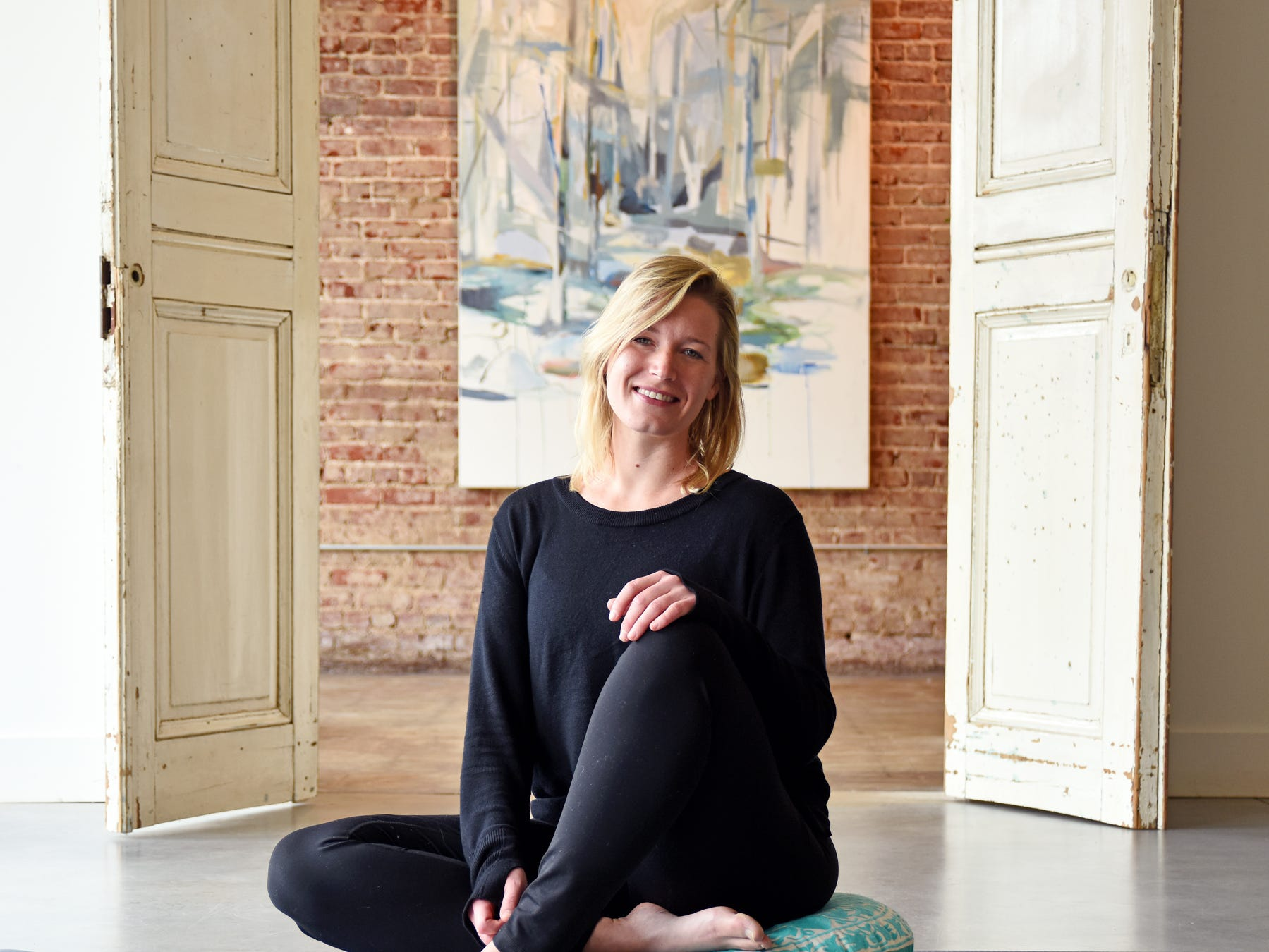 Katie Hughes, owner and operator of Indigo Flow and Art in the West Village of Greenville.